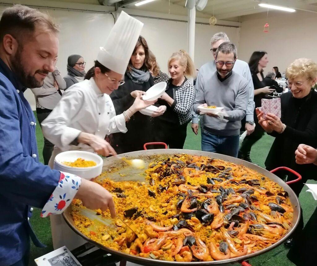Paella valenciana e riso veneto